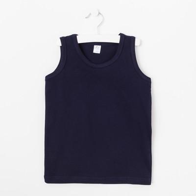 Майка для мальчиков, цвет синий, 134-140 см (38)