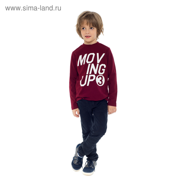Джемпер для мальчика, рост 122-128 см, цвет бордовый AW17-GDLCH-757
