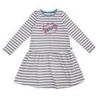 Платье для девочек, рост 104 см, цвет серый/белый AW17-JUZ-057