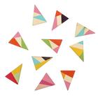 """Подвеска деревянная для декора """"Треугольник"""" ассорти, размер 4х3 см"""