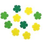"""Подвеска деревянная для декора """"Цветок"""" зелёный/жёлтый, d=4 см"""