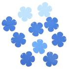 """Подвеска деревянная для декора """"Цветок"""" синий/голубой, d=4 см"""