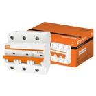Выключатель автоматический TDM ВА47-100, 3Р, 100 А, 10 кА, характеристика С, SQ0207-0077