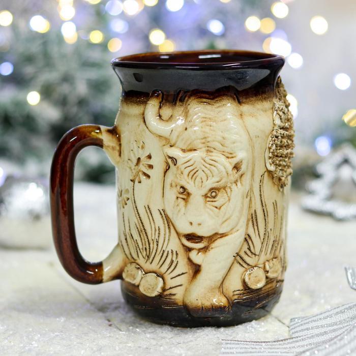 """Бокал """"Тигр"""", керамика, 0.75 л"""