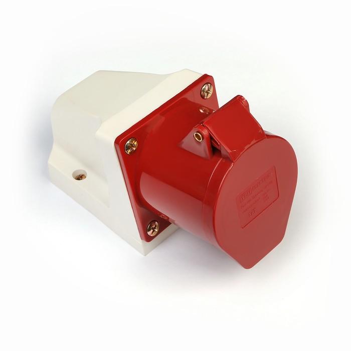Розетка 124 стационарная 3Р+РЕ 32А 380В IP44 TDM