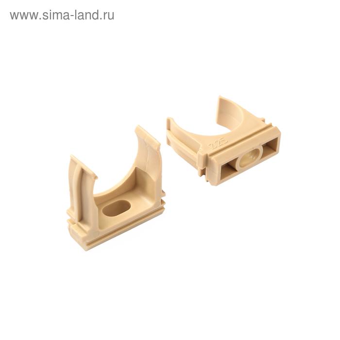 """Крепеж-клипса для трубы 25 мм (10шт) """"ЭКО"""" (сосна) TDM"""