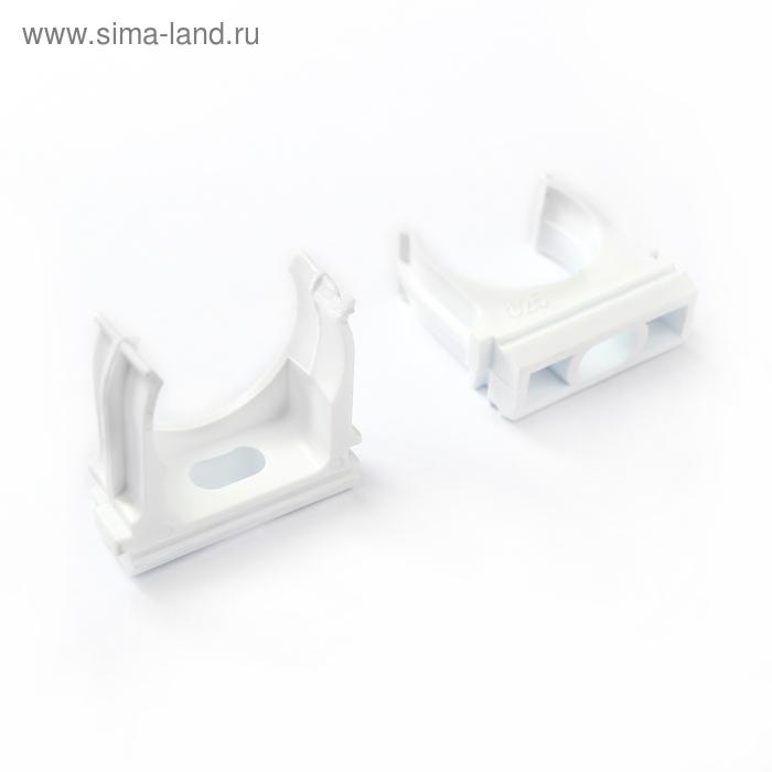 Крепеж-клипса для трубы 25 мм (10шт) - цвет белый TDM