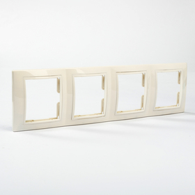 Рамка 4-х постовая вертикальная белая 'Таймыр' TDM Ош