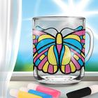 """Stained glass painting mug """"Butterfly"""""""