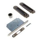 Ручки для раздвижных дверей PALLADIUM 01BK AB, с замком, цвет старая бронза