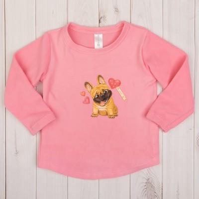 """Джемпер для девочки KAFTAN """"Маленькое чудо"""", розовый, рост 110-116 (32), 5-6 лет"""