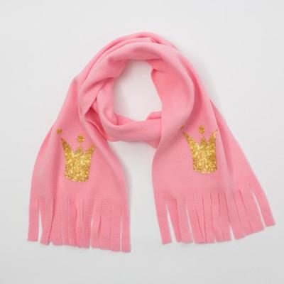"""Шарф детский """"Мисс мира"""" , розовый 100% п/э"""