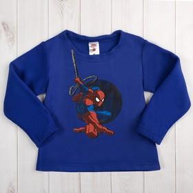 """Джемпер для мальчиков """"Человек Паук""""  ,рост 98-104 (30) см, 3-4 года, синий 100% п/э"""