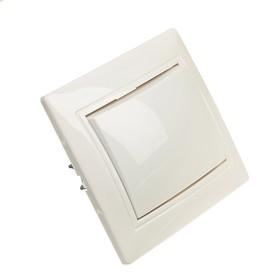 """Выключатель Smartbuy """"Венера"""", 10 А, 1 клавиша, скрытый, белый"""