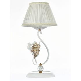 Настольная лампа  Elina 1x40W E14 золото 23x23x47см