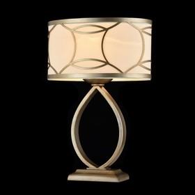 Настольная лампа Fibi 1x60W E27 кварцевое золото 28,1x17,8x41см