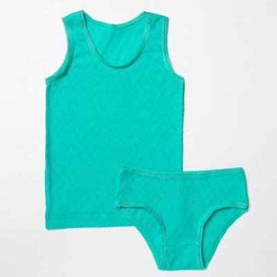 Комплект для девочки 124, цвет голубой, рост 86 см