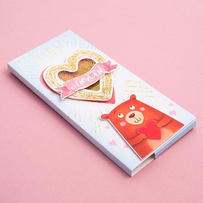 Коробка открытка для шоколада