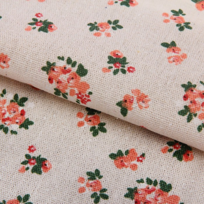 Ткань для пэчворка холща «Цветочный шебби», 47 х 50 см