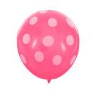 """Шар латексный 12"""" """"Горох"""", набор 5 шт., цвет розовый - фото 244477175"""