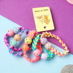 Резинка для волос 'Магическая' (набор 5 шт) шарики Ош