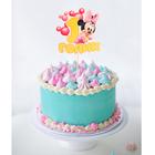 """Топпер в торт """"Малышке 1 годик"""" Минни Маус"""