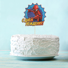 """Украшение для торта """"С Днем Рождения"""" Человек-паук"""
