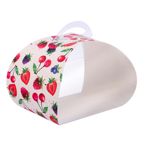 Коробочка под десерт «Ягодный мусс», 8 × 14 × 9 см