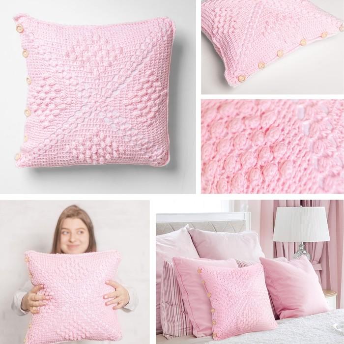 Интерьерная подушка «Розовые сны», набор для вязания, 14 × 21 × 8 см