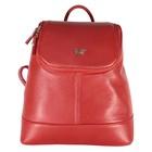 Рюкзак женский, наружный карман, цвет красный