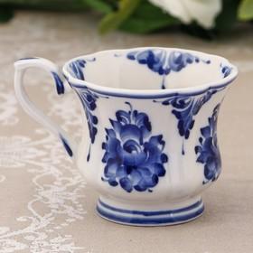 """Mug """"Valeria"""", H=8.5 cm, Gzhel"""