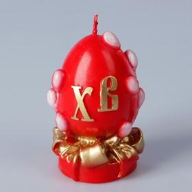 Декоративная свеча «Пасхальное яйцо с вербой» малая