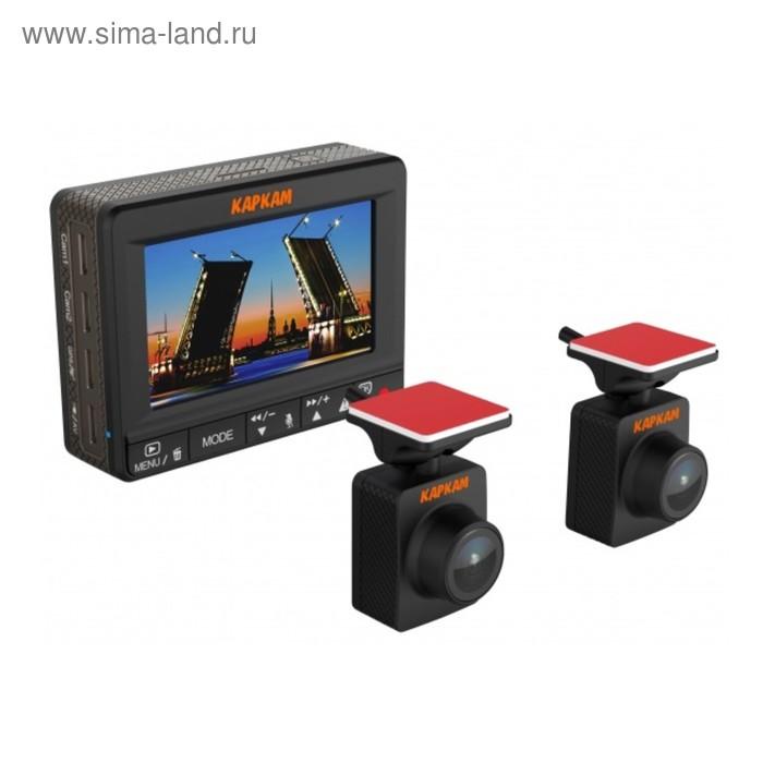 "Видеорегистратор Carcam Каркам ДУО,  2.4"", обзор 140°, 1920x1080"