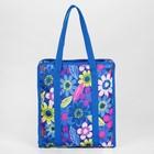 Сумка для рукоделия 35*30*7см Синие цветы