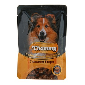 Влажный корм Chammy для собак, ягненок в соусе, 85 г
