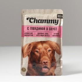 Влажный корм Chammy для собак, говядина в соусе, 85 г Ош