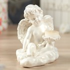 """Статуэтка-подсвечник """"Ангел на облаке"""", белая"""