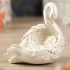 """Статуэтка """"Ангел в лебеде"""", средняя, белая"""