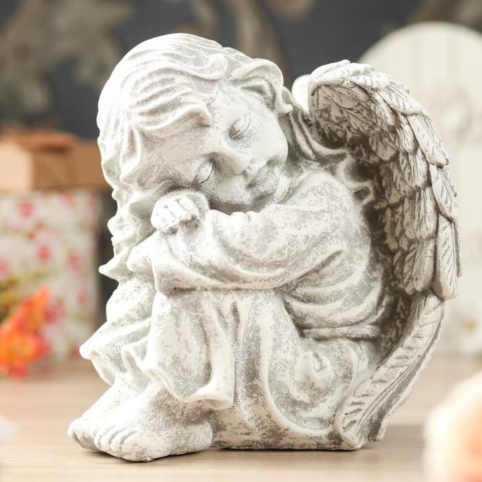 """Статуэтка """"Ангел спящий"""", камень, микс"""