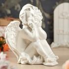"""Статуэтка """"Ангел сидит"""", белая"""