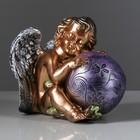 "Статуэтка ""Ангел с шаром"" бронза цветная"