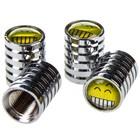 Колпачок на вентиль SKYWAY Smile-2, металлический, набор 4 шт.