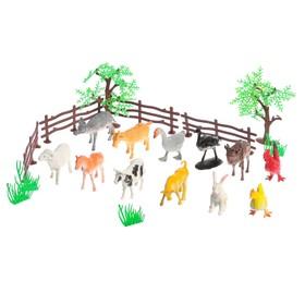 Набор животных «Моя ферма», с аксессуарами, 12 фигурок