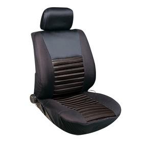 Чехлы сиденья Skyway с подогревом, полиэстер, 12 В, 116х56 см, 2,5-3 А, черный Ош
