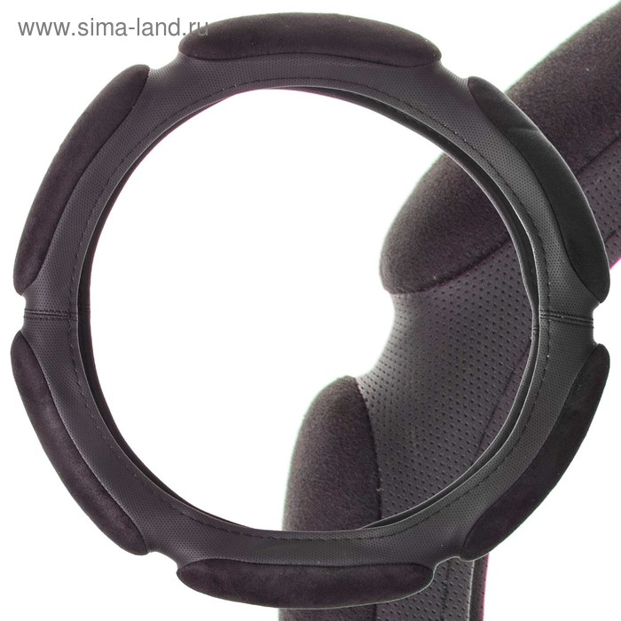 Оплетка SKYWAY Spong classic, размер S, замша, черный