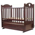 "Кроватка детская ""ЕВА""-6 (с сердечком)  маятн/ящ., 120 х 60 см (вишня)"