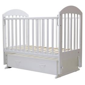 Кроватка детская «Дарина-6», маятник, ящик, размер 120 х 60 см, белый