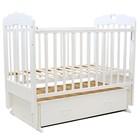 """Кроватка детская """"ВИОЛЕТТА""""- 6 сердечко, маятник, 120 х 60 см  (белый)"""