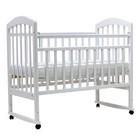 """Кроватка детская """"ЛИРА""""-2, кол/качалка,120 х 60 см (белый)"""