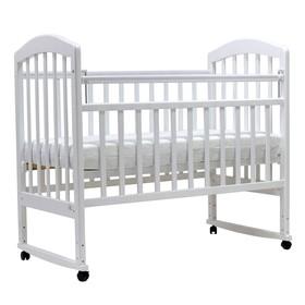Кроватка детская «Лира-2», качалка, размер 120 х 60 см, белый